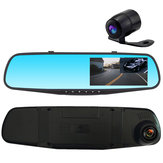 1080P 4.3 Inch Dual Lens Night Vision Rear View Mirror and Reversing Image Recorder Car DVR