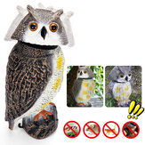 Rotating Head Simulation Owl Realistic Rodent Deterrent Scare Outdoor Garden Hunting Decoy