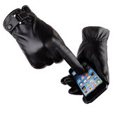 Mens Warm Touch Screen Man-made Leather Cycling Ski Gloves