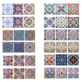 6pcs Waterproof Tile Style Tile Stickers European And American Tile Stickers