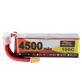 ZOP Power 14.8V 4500mAh 100C 4S Lipo Battery XT60 Plug for FPV RC Drone