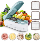 Multifunctional Vegetable Cutter Food Chopper Adjustable Slicer With 3 Blades Kitchen Tool