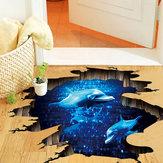 Miico Creative 3D Deep Sea Dolphin verwijderbare Home Room decoratieve muur vloer Decor Sticker