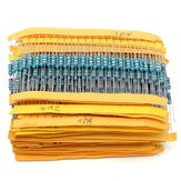 1000Pcs 5% 1/2W 0.5W Metal Film Resistor 50 Values Assorted Kit 0.1 ohm~4.7M ohm Capacitor