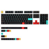 MechZone 126 Keys Metropolis Keycap Set Cherry الملف الشخصي Sublimation PBT Keycaps for 60/87/104/108 Keys Keys الميكانيكية