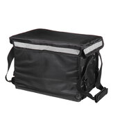 30L Scooter Cooler Bag Insulated Thermal Pizza Bag Fresh Food Delivery Picnic Bag w/belt