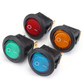 20pcs LED Dot Light 12V Motorcycle Car Boat Auto Round ON/OFF Rocker Toggle SPST Switch
