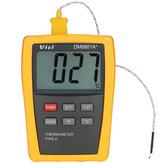 فيسي DM6801A+ البسيطة لد ميزان الحرارة الرقمي متر فاحص مع k- نوع الحرارية