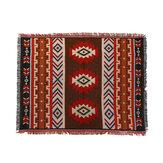 Woondecoratie Azteekse Navajo Handdoekmat Gooi Muur Opknoping Katoenen Tapijten Geometrie Geweven 130 * 160 cm