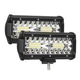 2PCS 7 Inch 120W luz LED Bar 24000lm Proyector Inundación Conducción todoterreno 4WD SUV