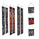 Bannière de rideau de porte et décoration extérieure de couplet de festivals de fantômes