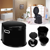 Outdoor Travel Plastic 5 Litre Camp Toilet Portable Camping RV Caravan Commode With Paper Hook