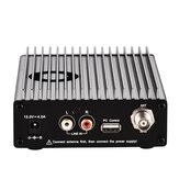 CZERF Transmissor PLL FM Estéreo CZE-15B 0.3-15W Estação de Rádio de Transmissão Sem Fio Ajustável 87-108 MHz Controle de PC Luz de fundo AMP