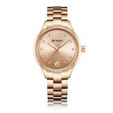 CURREN9003CrystalCasualStyleEdelstahl Damen Armbanduhr