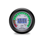 52mm Car Olio Manometro 7 Colore LED Doppio Display Boost Meter