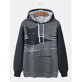 Áo khoác hoodie nam có túi in hình mèo Kangaroo