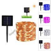 5 Colors 8 Modes 10m 100LED Solar Copper Wire String Lights Waterproof Decor for Courtyard Outdoor Park