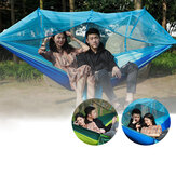 1-2 Person Camping Hammock Hanging Bed Swing Chair with Mosquito Net Outdoor Travel