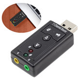 Bakeey™ USB 2.0 External Sound Card Channel 7.1 3.5mm Adapter Microphone Headphone Audio Interface