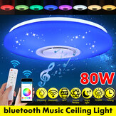 AC220V Dimmable LED Starry Sky Bluetooth Music Speaker Smart Ceiling Light + APP Remote