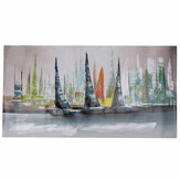 1 Piece Canvas Print Painting Abstract Sailboat Oil Painting Wall Decorative Printing Art Picture Frameless Home Office Decor