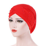 Womens Good Elastic Polyester Earmuffs Chemo Caps