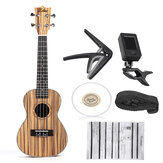 Zebra 21 23 pouces Full 4 Strings Sapele Ukulele Acoustic Musical Guitar