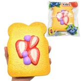 Kiibru Squishy Strawberry Sliced Toast Licensed 14.5cm Slow Rising With Packaging Collection Gift Soft Toy