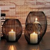 Vintage Iron Cage Tealight Candle Stand Holder Lantern Candlestick Wedding Decor