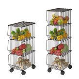 Küchenregale Haushaltstöpfe und Töpfe Boden Mehrschichtige Schalen und Geschirr für Gemüse- und Obstkörbe Kleinigkeiten Regal