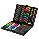 KIDDYCOLOR 163Pcs Watercolor Painting Set Painting Brush Pencils Crayon Set Children's Drawing Art Graffiti Pen