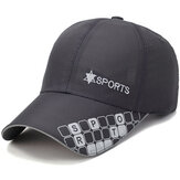 Men Baseball Cap Printting Quick Dry Hat Sport Peaked Caps