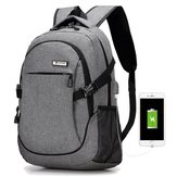 Men's Women's Waterproof Oxford Laptop Backpack Bag With External Charging Port