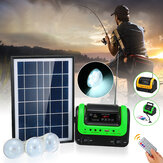 5W Solar Panel Kit DC System Energy Electricity Charge Power 3 LED Bulbs Light Indoor Outdoor Power Bank