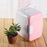 4L 48W Mini Réfrigérateur de Voiture Portable Blanc Rose Bleu