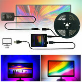 Faça você mesmo Ambilight PC Smart LED Strip Light 1M / 2M / 3M / 4M / 5M USB Monitor de computador LCD Tela de luz de fundo US Plug Christmas Decorations Clearance Christmas Lights