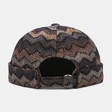 Col unisexe contraste couleur vague rayures motif personnalité décontractée bonnet sans bord propriétaire chapeau chapeau de crâne