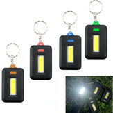 Mini Portable COB LED Work Light Inspection Battery Powered Key Chain Tent Pocket Lamp