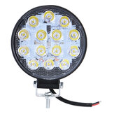 4Inch 42W 6000K Round LED Work Light Fog Light Stop Lamp ATV Spotlight Waterproof 12V-31V Universal For SUV Truck