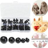 100unids6-12mmOjosdeSeguridad de Plástico Negro Para Muñecas Marionetas Animal Crafts Peluche de Juguete DIY Craft