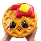 Gigante Jumbo Squishy Pão Waffle Bolo 24CM Bolinhos Lento Rising Soft Brinquedo Perfumado