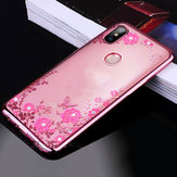 Bakeey Diamond Plating Clear Cover Soft TPU Flower Protective Case For Xiaomi Mi MAX 3