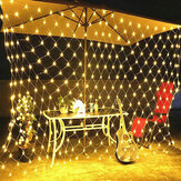 1.5x1.5M/2x3M/4x6M LED Net Mesh Fairy String Light Outdoor Garden Curtain Lamp Christmas Festival Decor 220-240V Christmas Decorations Clearance Christmas Lights