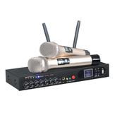 UHF Kablosuz Mikrofon Sistemi ile Çift El Karaoke Mikrofon Ev KTV için 2 El Mikrofonlar
