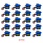 20PCS NHYTech SG90 9g 4.8-6V Mini Analog Servo Smart Horn For RC Fixed Wing Airplane Model Robot Parts Motor DIY Models