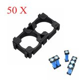 50pcs 2 Series 18650 Lithium Battery Support Combination Fixed Bracket With Bayonet