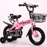 12 inç 4 Tekerlekler Çocuklar Ayarlanabilir Katlanır Denge Bisikleti ile Su Isıtıcısı Raf & Yanıp Sönen Tekerlekler Bebek Çocuk Bisikleti Yaşlı 2-4 Erkek & Kız Hediyeler