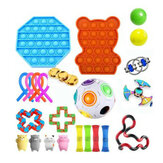 DIY Fidget Toys Set Squeeze Dice Drawstring Magic Cube Stress Relief and Anti-Anxiety Toys for Kids and Adults
