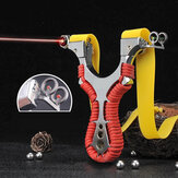 Laser Alloy Double Aiming Catapults High Power Outdoor Hunting Shooting Slingshots Laser Aiming Slingshots with Rubber band