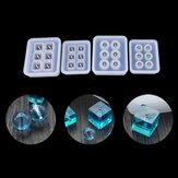 1 stks 12mm / 16mm Cube Ball Kralen Siliconen Mal 6 Compartiment